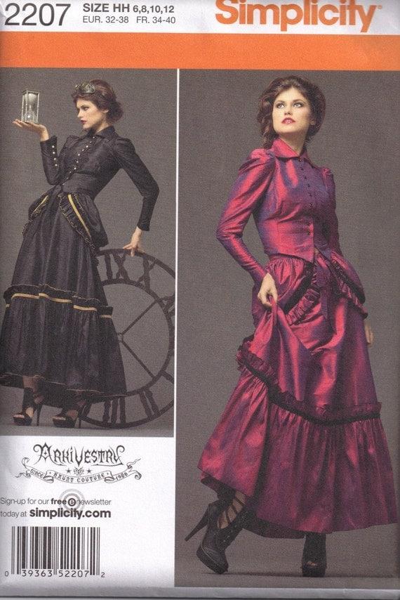 Victorian Bustle Skirt Pattern 97