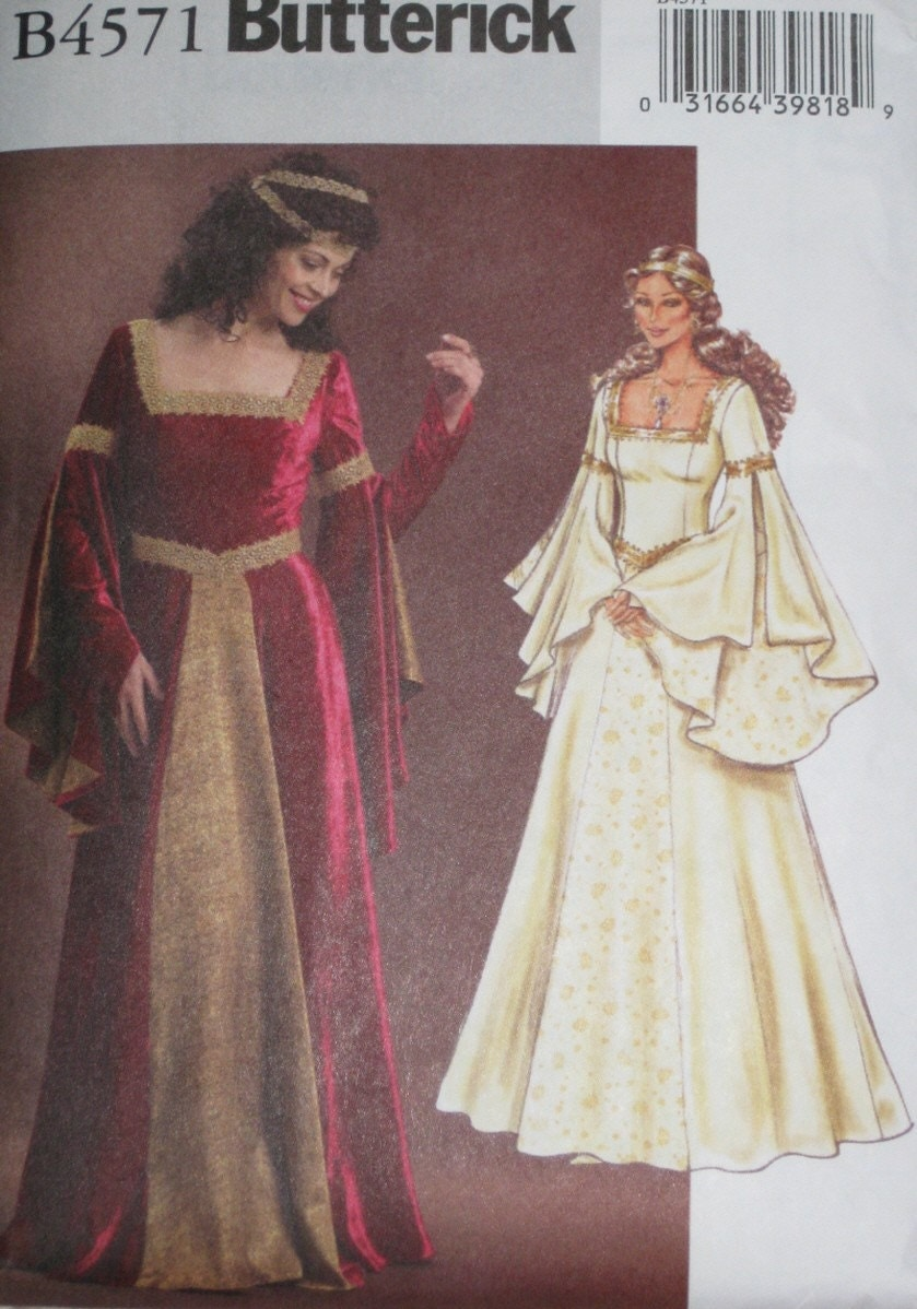 Medieval Maiden Arwen Dress Sewing Pattern Butterick B4571
