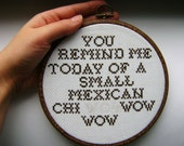 Mexican Chi wow wow Cross-Stitch