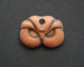 Celtic Owl - Ceramic Pendant Bead
