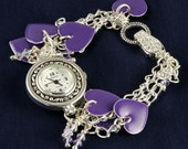CUSTOM SHIPPING FOR  daweedsgirl  Purple Heart Charm Watch Bracelet