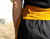 Yellow Suede Adjustable Belt- All Sizes