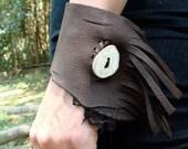 Deerskin Fringed Arm Cuff Bracelet