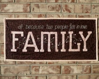 FAMILY quilt wallhanging pattern from Pumpkin Berries Stitchery