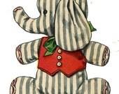 Clown Kitten Elephant Dachshund Puppy & Toy Bag PATTERN 2329 Vintage Stuffed Toy Patterns quality photocopy