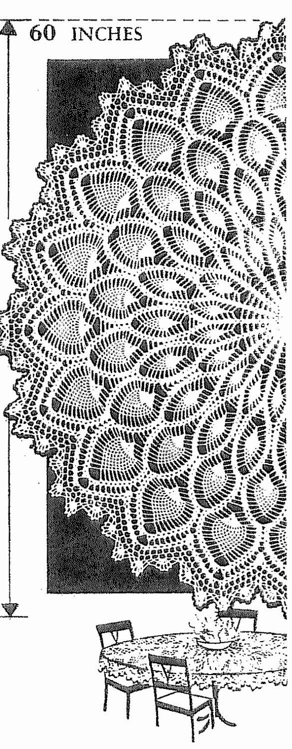 Pattern 7014 old crochet vintage round pineapple table cloth zoom bankloansurffo Gallery