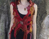 RESERVED for Jen77 - Felt Melted Style Holey Pixie Vest