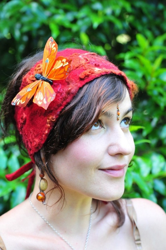Felt Fairy Pixie Butterfly Head Band OOAK