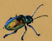 Dogbane Beetle - brown paper planet fine art print