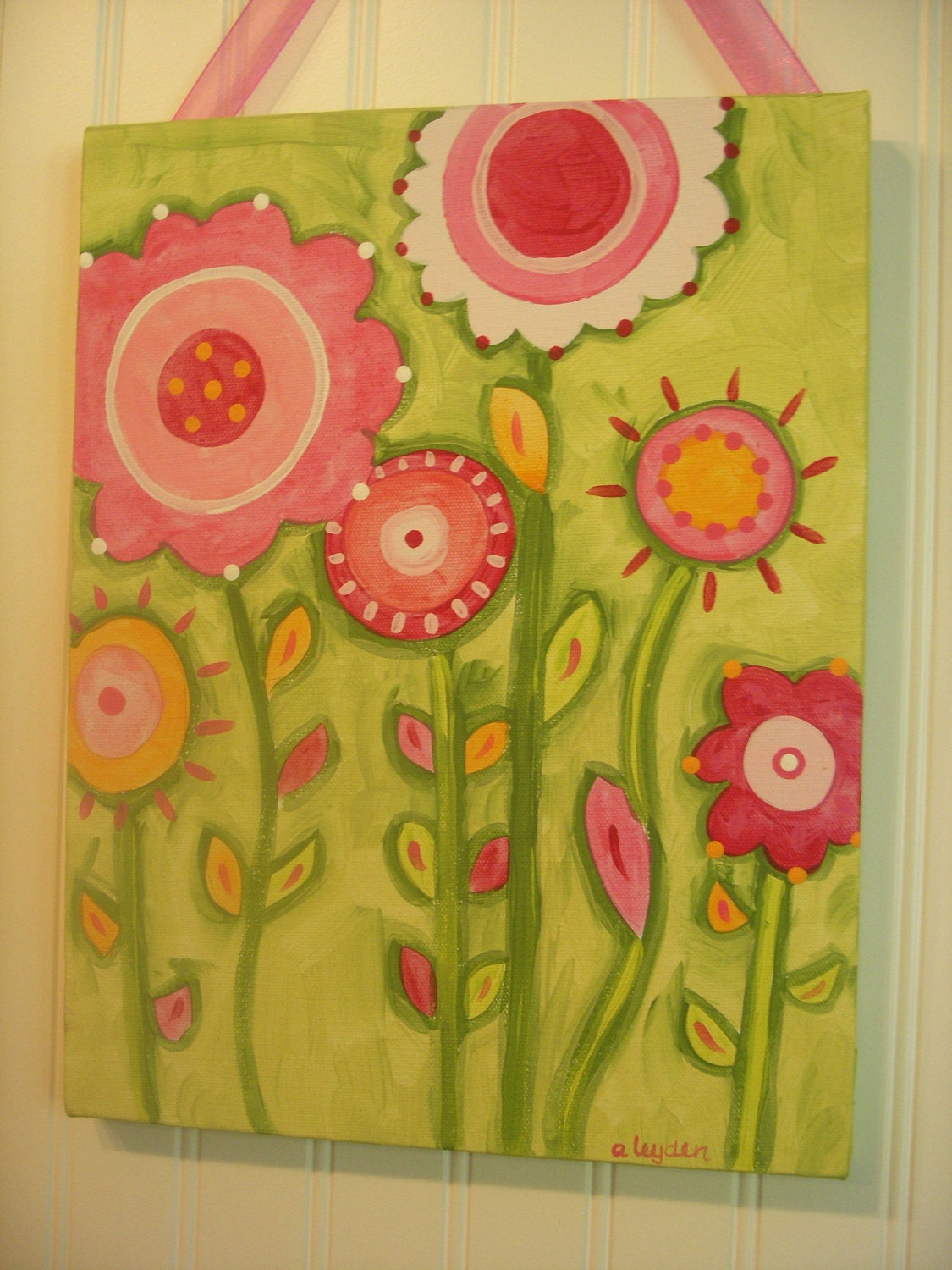 Galleries Related Flower Paintings For Kids Rooms Easy