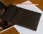 Leather Kindle / eReader Case - Chocolate Brown - FREE SHIPPING