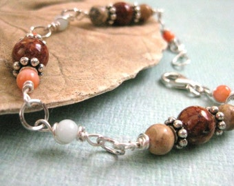 Autumn Sunset Sterling Silver Bracelet