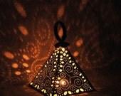 Pyramid tea light holder