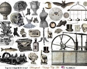 StEaMpUnK - ViNtAgE cLiP aRt - Digital Collage Sheet (no 135)