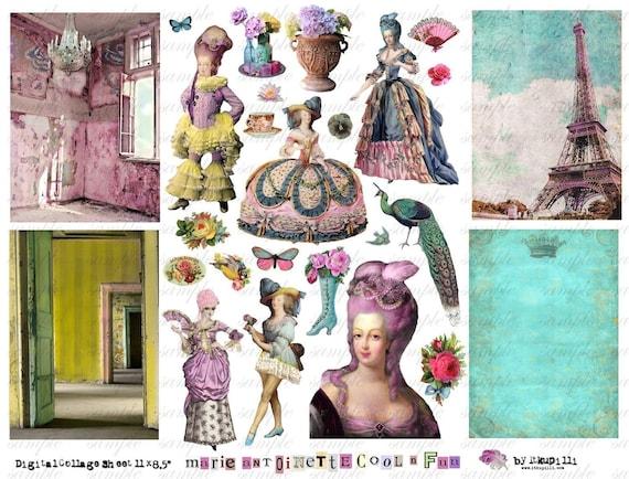 MaRiE aNtOiNettE cOoL n FuN - Digital Collage Sheet (no 276)