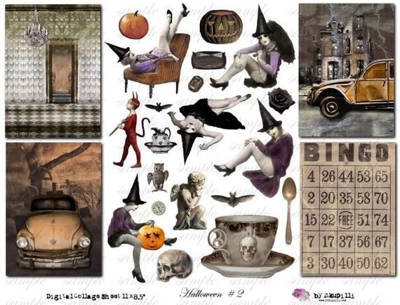 Halloween 2 - Digital Collage Sheet (no 099)