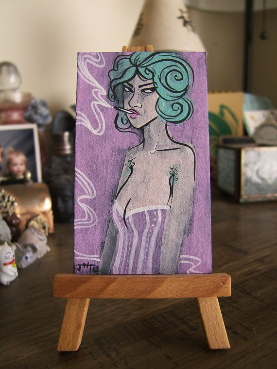 Mini Painting- SMOKERETTES Lina
