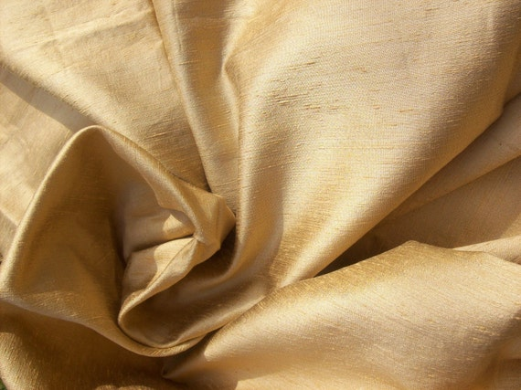 Gold handloom silk remnant, 1 yard plus ON SALE