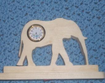 Elephant miniature desk clock