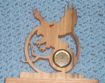 Flying Eagle miniature Desk clock