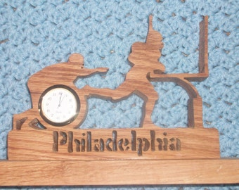 Philadelphia football player  mini desk clock