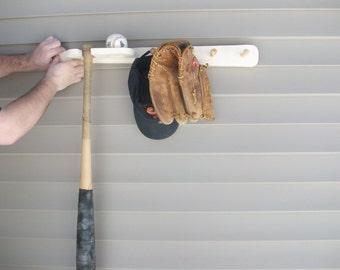 Bat\/ball\/glove\/hat wall rack (free Shipping)