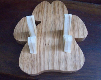 Paw shaped Business card caddy