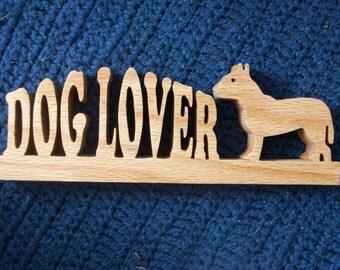 Dog Lover wooden display
