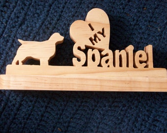 I love my Spaniel wooden display