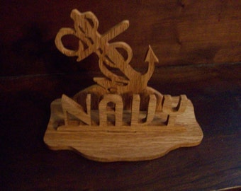 Wooden Navy display