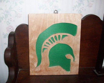 Michigans State Spartan sign