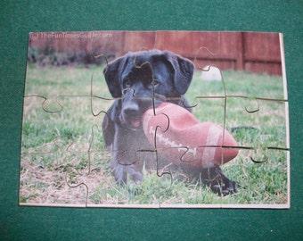 Black Lab puppy jigsaw puzzle