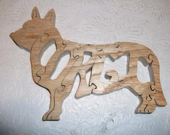 Wooden Corgi jigsaw puzzle