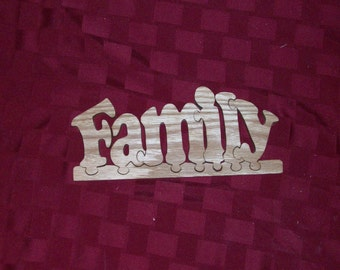Wooden Family jigsaw puzzle