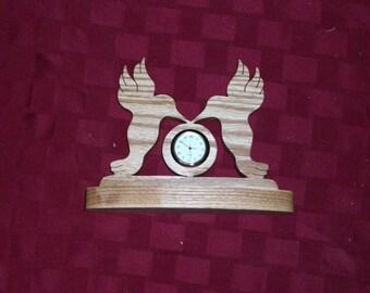 Wooden Humming Birds mini desk clock