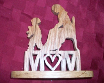 Mom wooden display and sign