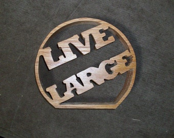 Wooden Live large table sign