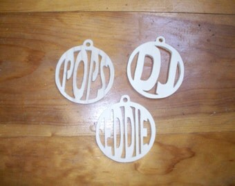 Wooden personalized christmas tree ornaments