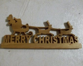 Wooden Merry Christmas sign/display