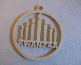 Wooden Kwanzaa ornament