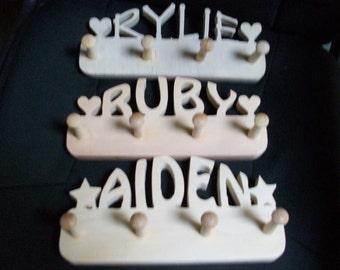 Customized name racks