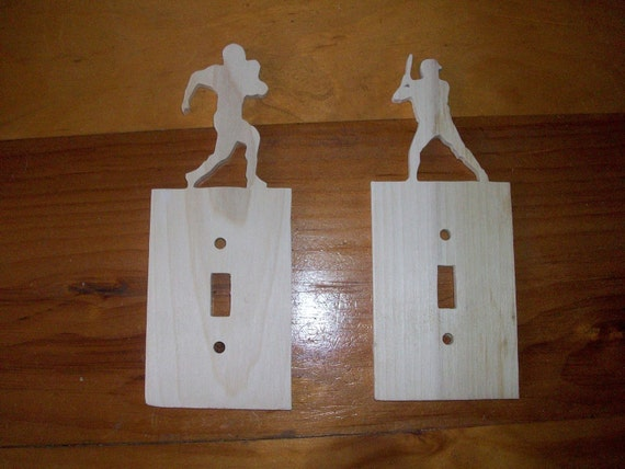 Items Similar To Sports Themed Wooden Switch Plate Covers