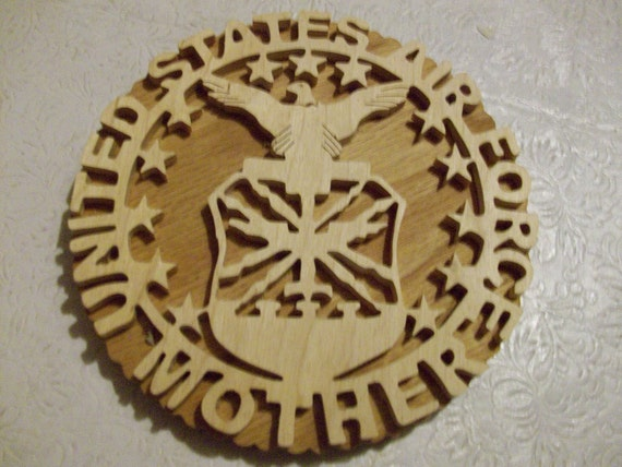 Wooden United States AIr Force mother wall hanging