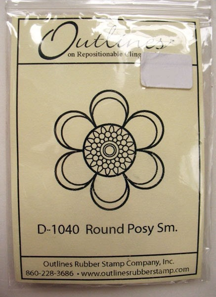 Rubber Stamp By Outlines Round Posy Small