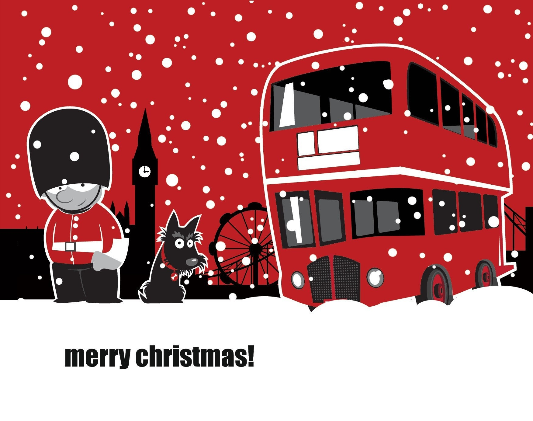 Merry Christmas In London Postcard