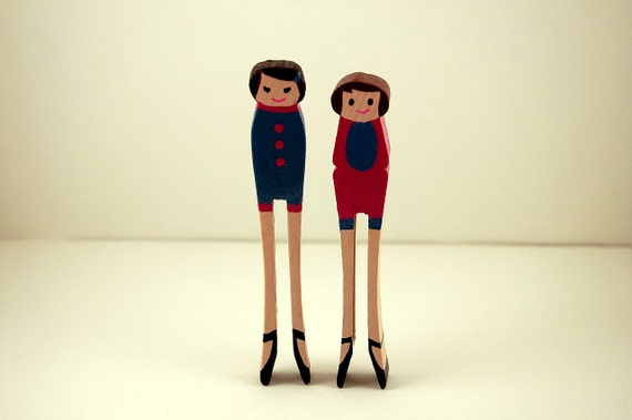 Wooden Dolls Best Friends