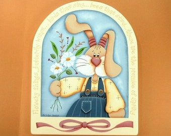 Spring Promises Hand Painted Wood Plaque 265