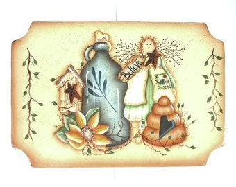 Believe Sign Hand Painted Country Collection 440