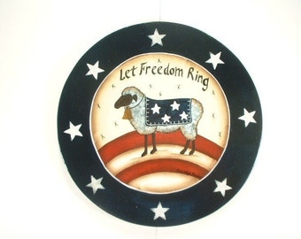 Freedom Sign Hand Painted Wood Plaque 621