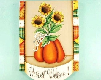Fall Welcome Sign Handpainted Wood Plaque 648
